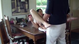 Ella in hardcore amateur sex video filmed in a car thumb
