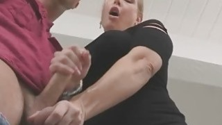 Skylar and Angel teamed in sucking and fucking Seth cock thumb