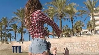 Pounding and banging sexy piece_of ass Julia Roco at the beach thumb