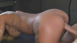 Slutty Latina With Tattoos Banged In The Back Of Van thumb