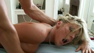 Hunk is stimulating babes needs with his rubbing thumb