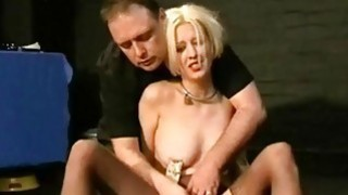 Bizarre humiliation of Cherry Torn in painful bdsm thumb