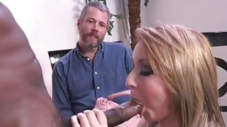 Valerie White tries black cock while bf watches thumb