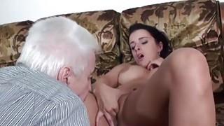 MAGMA FILM Busty Hot Teens teasing Grandpa thumb