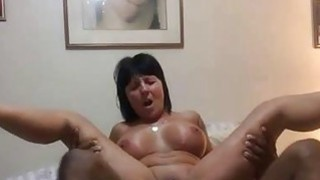 Fucking a Granny's Asshole with BBC thumb