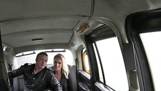 Nasty couple getting horny in the taxi and have sex on cam thumb