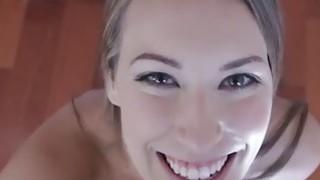 Big natural tits hottie Kimber Lee banged on camera thumb