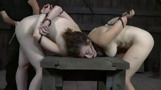 Bounded beauty is dripping moist from her_torture thumb