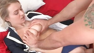 Sweetheart rides on dudes dick with_vigorously thumb