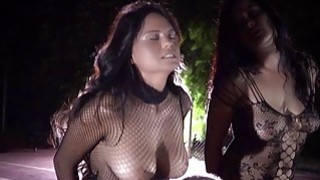 Busty slaves hard bdsm played on the playground thumb