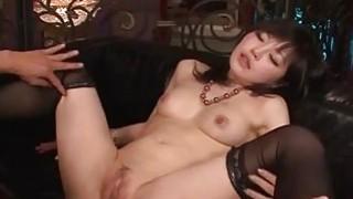 Lingerie model Hikaru Kirameki takes big dick_in her holes thumb
