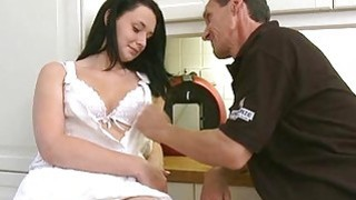 Juvenile playgirl enjoys getting old cock in pussy thumb