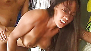 Hot amateur Asian girlfriend home action with cum thumb