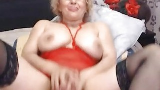Hot Blonde Mature Fucks Pussy_With Toy thumb