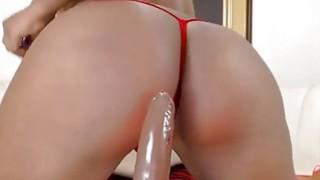 Big Butt Ebony Riding Dildo thumb