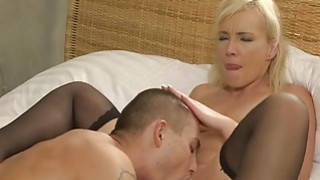 Young muscled guy fuck old blonde lady thumb