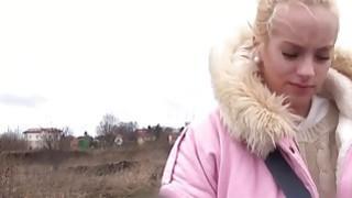 Czech amateur banged in car in public thumb