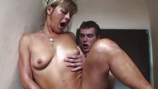 European Blonde Mature Double Teamed By Yung Cocks thumb