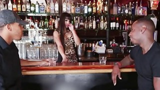 Two Horny Black Guys Tag Team Busty Latina Bartender Mercedes Carrera thumb