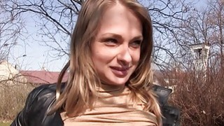 Blondie Czech babe gets banged for money thumb