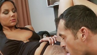 Nataly rides dick in kitchen thumb