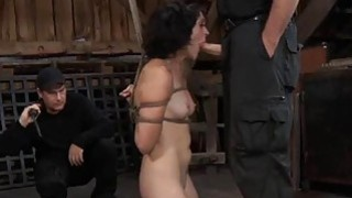 Tied up slave acquires pleasuring her naughty cunt thumb