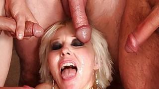 Mature blonde gangbanged bukkake thumb