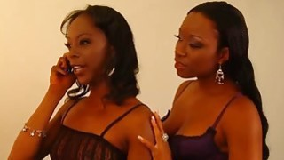 Black Lesbians Imani Rose And Dariel Dukes Play With Tight Pussies thumb