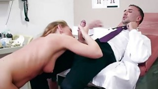 A very horny huge dick fake doctor ate sexy babes wet tight pussy thumb