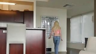 Blonde angel Elsa Jean fucks busty lesbian Alexis Fawx using big strapon thumb