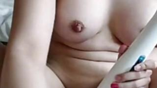 Real Amateur Teen Hitachi Insertion Masturbation Orgasm On Webcam thumb