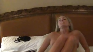 Mean Busty MILF Shoving Lingerie In Pussy thumb