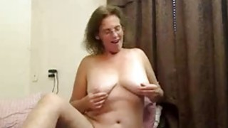 Hot busty mature fingers pussy thumb