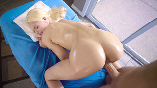Elsa Jean getting her tiny pussy stretched by that thick fuck rod thumb