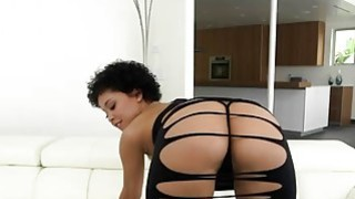 Curly haired seductress Mia Austin removes sexy lace outfit and gets fucked thumb
