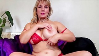 Big natural titted blonde mature_masturbating thumb