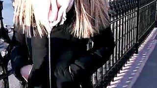 Hot European babe Stella Cox fucked by a street guy thumb