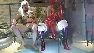 African dominatrix riding slave big_black dick thumb