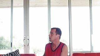 Horny Amethyst Banks interrupting boyfriend from watching thumb