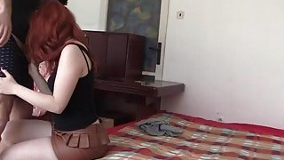 Young Redhead Barbara Babeurre Sucks Dick And Tries Anal Sex In Bedroom thumb