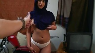Attractive Arab babe bends over and gets fucked raw by horny man thumb