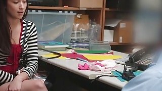 Teen Thief Naiomi Mae Takes Long Cock In Office thumb