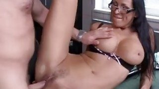 Busty babe Mandy Bright is facialized after the rough drilling thumb