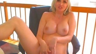 Sexy Blonde Babe Suck and Fuck a Dildo on Cam thumb