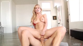 Buxom blonde Cherie DeVille doesn't give this cock a time to_rest thumb