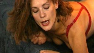 Brunette MILF In Black Stockings Anal Fucked thumb