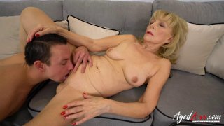 AgedLovE Blonde Mature Fucked Hard By Youngster thumb