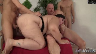 Insatiable BBW Becki Butterfly Is Gangbanged by Five Horny Bastards thumb