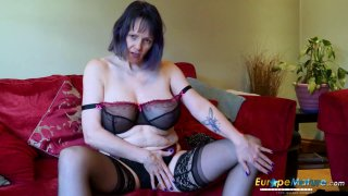 EuropeMaturE Lonely Lady Solo Masturbation Video thumb