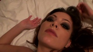 POV video of curvy blonde woman Paris Cartier pounded missionary style and from behind. thumb